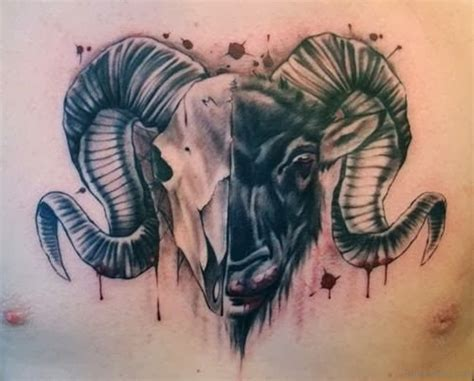 ram tattoo meaning 30 aries designs on chest
