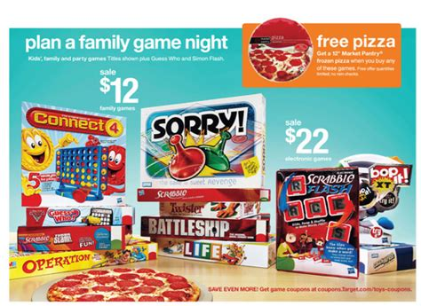printable board game coupons target free pizza with board game purchase mfr target
