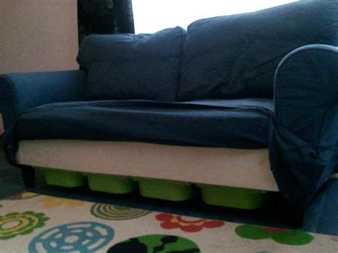 sofa hacks ektorp storage using trofast ikea hackers ikea hackers