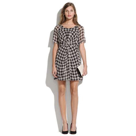 Dress Hounstood silk houndstooth dress dresses madewell