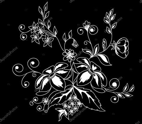 fiori bianco nero bellissimi fiori bianchi e nero monocromi e fogli isolati