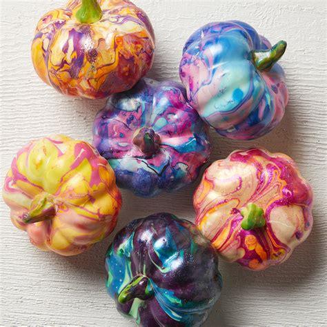 colored pumpkins diy nail pumpkins better homes gardens