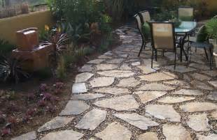 Flagstone pea gravel patio here s a flagstone patio with