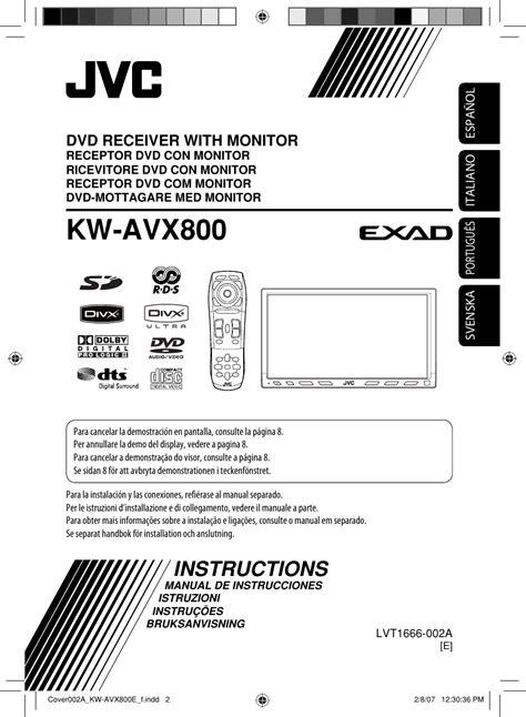 JVC KW AVX800E AVX800[E] User Manual LVT1666 002A