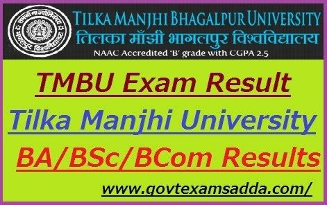 tmbu result  ba bsc bcom part  exam results  wise
