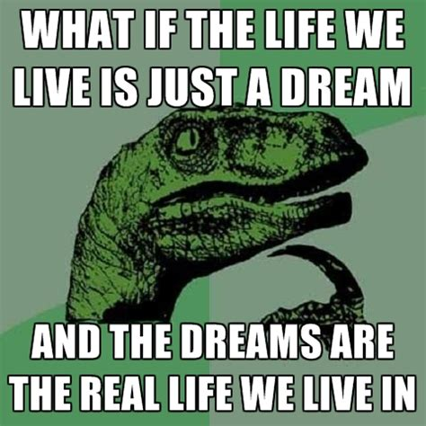 Dream On Meme - what if the life we live is just a dream and the dreams