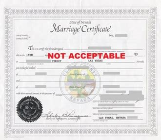 Nevada Marriage Records Free Las Vegas Marriage Certificate With An Apostille