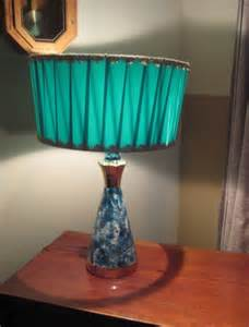 vintage turquoise gold drum ribbon shade l by retrohouse