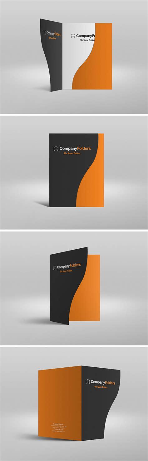 Serpentine Presentation Folder Mockup Graphicburger Folder Sles Templates