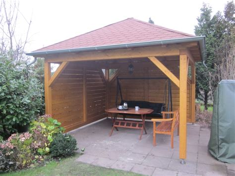 pavillons aus holz achteckiger pavillon aus holz selber bauen phiimobel