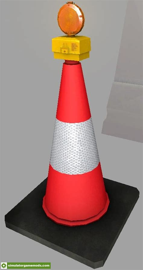 fs warning cone  flashinglight  simulator
