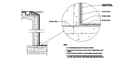 Swimming Pool Section Detail by Swimming Pool Waterproofing Specifications In Autocad