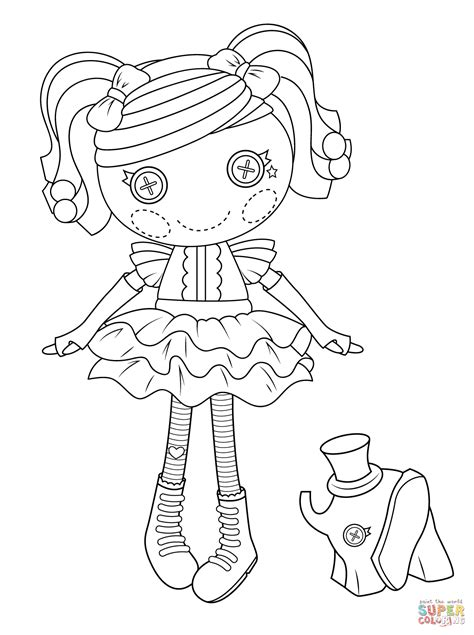 Lalaloopsy Peanut Big Top Coloring Page Free Printable Lalaloopsy Colouring Pages