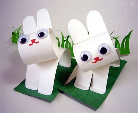 Cool Construction Paper Crafts - how to make easter bunnies with construction paper and