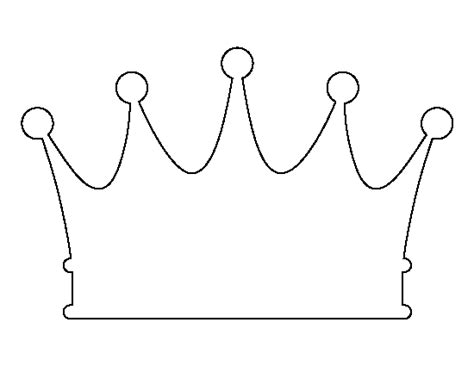 printable black and white crown crown pattern use the printable outline for crafts