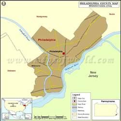 philadelphia county map pennsylvania
