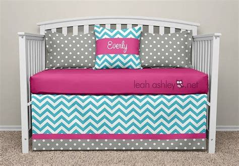 Turquoise And Gray Crib Bedding by Crib Bedding Set Pink Turquoise Gray Ella