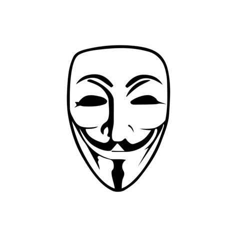 Topeng Vector fawkes anonymous mask graphics design svg by