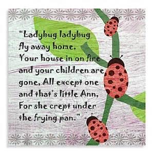 Bed Bath And Beyond Bedding Sale Green Leaf Art Ladybug Poem Canvas Art Buybuy Baby