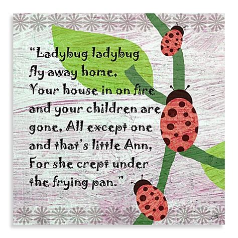 buy green leaf ladybug poem canvas from bed bath