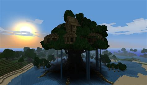 Minecraft Tree House by Cool Tree Houses In Minecraft Minecraft Tree Houses