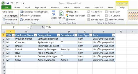 Spreadsheet Query by Connecting An Excel Spreadsheet To Sharepoint 2010 List