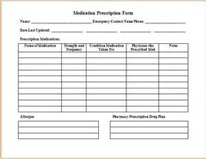 medication order form template ms word medication prescription form template printable