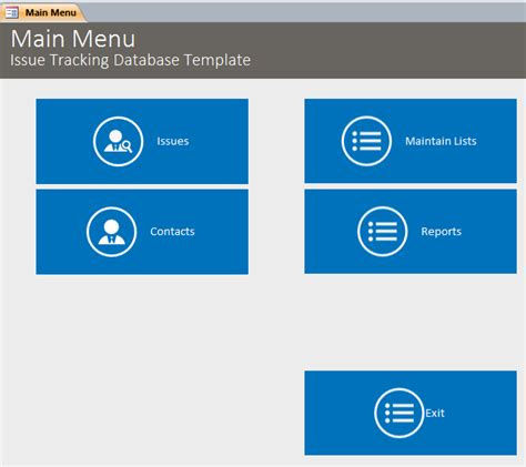 issue tracking access database template microsoft access issue tracking database template