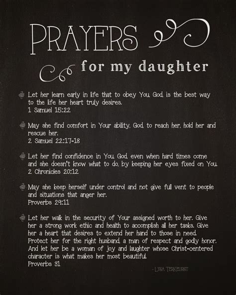 printable daughter quotes 5 prayers for my daughter free printable lysa