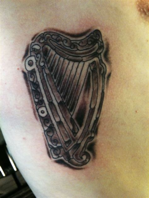 irish harp tattoo pinterest
