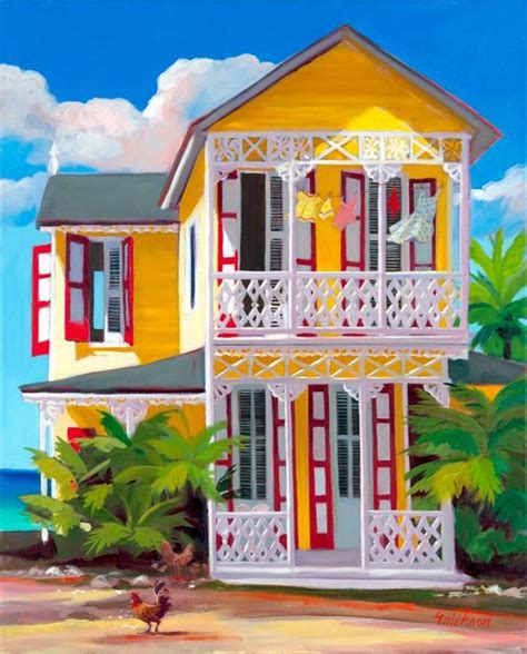 colorful beach houses colorful and cheerful caribbean art to cheer you up