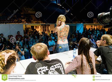 convention nyc september 2015 minsk belarus september 19 2015 show their tattoos editorial photo cartoondealer