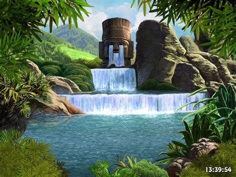 desktop themes with sound 3d moving waterfall sounds desktop backgrounds 3d