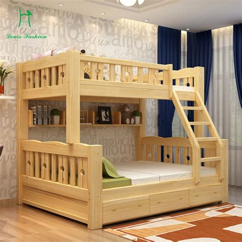 solid wood bunk bed children bed wooden bed upper