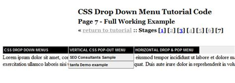 tutorial css menu drop down page not found error 404 web design professionals