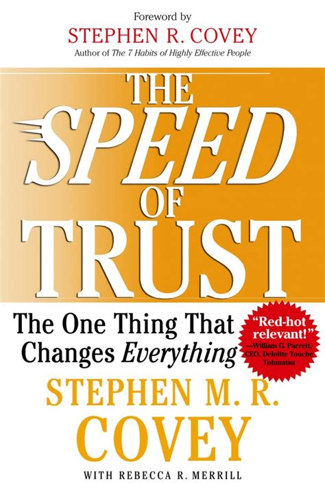 try and trust books book review quot the speed of trust quot venturebeat