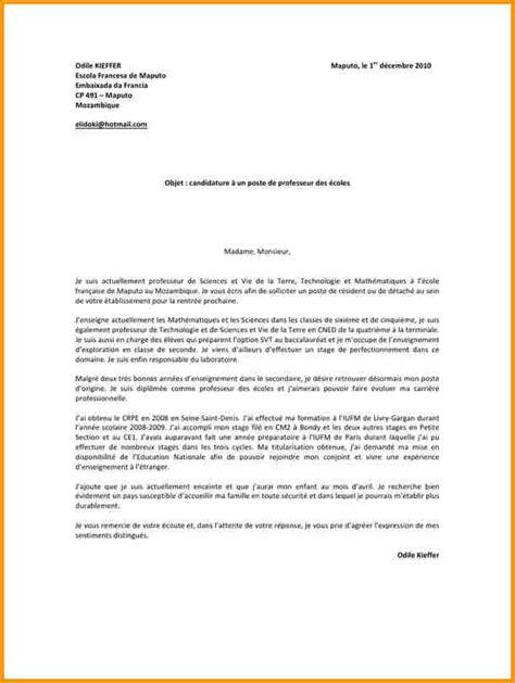 Exemple De Lettre De Motivation Vacataire lettre de motivation enseignant vacataire lettre de