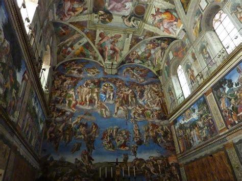Fresque Plafond Chapelle Sixtine by La Chapelle Sixtine Rome