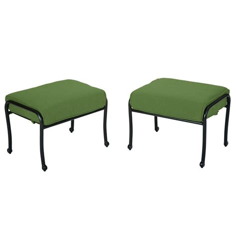 Ottoman Fall Hton Bay Fall River Patio Ottoman With Moss Cushion 2 Pack Dy11034 O 2 The Home Depot