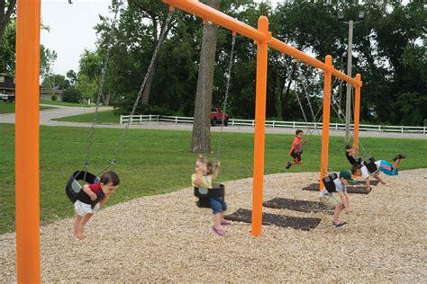 swing playground equipment playground swing posts 5 quot single post swing