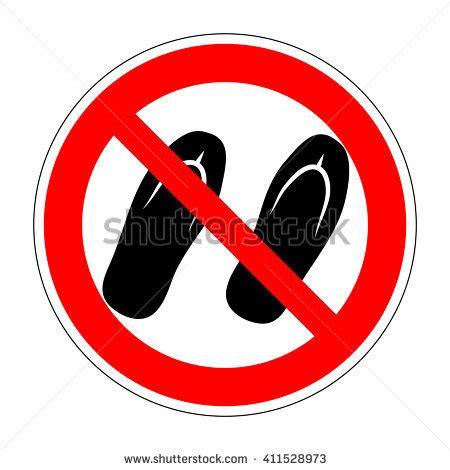no slippers allowed sign sandals stock vectors vector clip