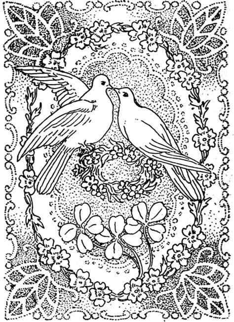 love coloring pages for adults peace and love coloring pages doves kissing in peace and