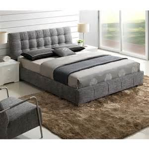 Gray Platform Bed Johnson Size Bed In Grey Fabric Platform Beds Vancouver
