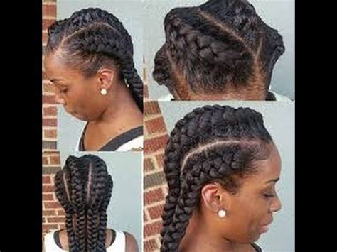 Plaited Hair Styleson Black Hair | best goddess braids hairstyles for black women youtube