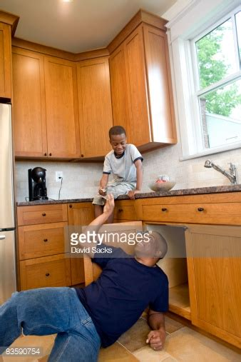 Kitchen Sink Fixings Fixing Kitchen Sink Handing Tools Stock Photo Getty Images