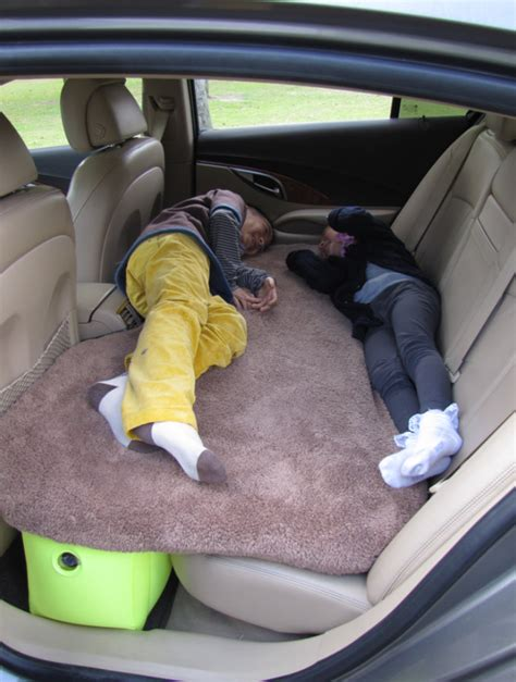 car back seat air bed mattress pillow grey