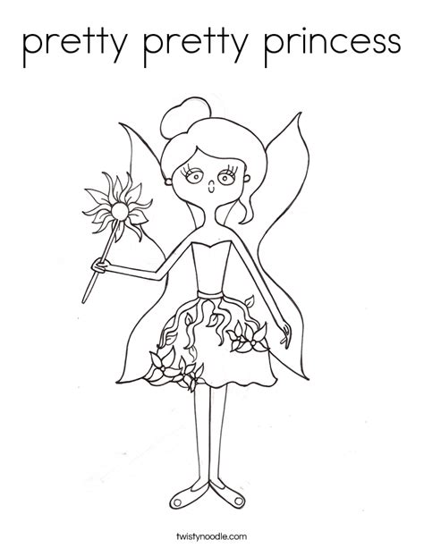Pretty Princess Coloring Pages pretty pretty princess coloring page twisty noodle
