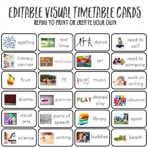 Best 25 Visual Timetable Ideas Only On Pinterest Teacher Clocks Go Back 2016 And Daily Schedules Visual Schedule Template