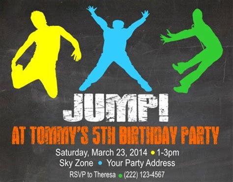printable sky zone birthday invitations 1000 ideas about troline birthday party on pinterest