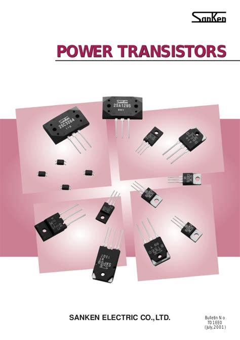 data sheet power transistors sanken
